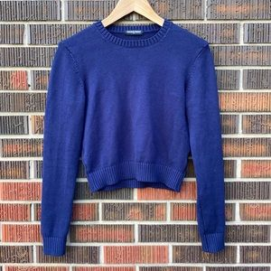 American Apparel Cropped Crewneck Sweater Size M